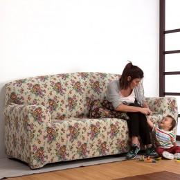Bi-stretch sofa cover Fabiola